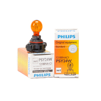 (PAIR) Philips PSY24W AMBER OEM Replacement Light Bulb