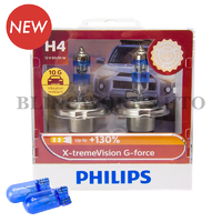 Philips H4 X-treme Vision G-force+130% Halogen Bulbs