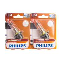 Philips HB4/9006 Rally Vision 70W Halogen Bulbs