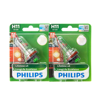 (PAIR) Philips H11 Eco Vision Long Life Halogen Bulbs