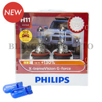 Philips H11 X-treme Vision G-force +130% Halogen Bulbs