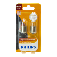 (PAIR) Philips R5W BA15S OEM Replacement Light Bulb