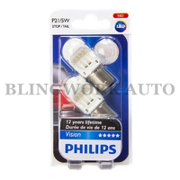 Philips P21/5W BAY15D 1157 Vision LED Red Brake Tail Light Bulb
