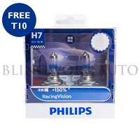 Philips H7 Racing Vision +150% Halogen Bulbs
