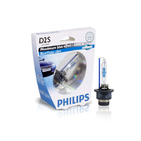 (PAIR) Philips D2S Xenon BlueVision Ultra 6000K Bulb
