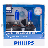 Philips HB3/9005 Diamond Vision 5000K White Halogen Bulbs