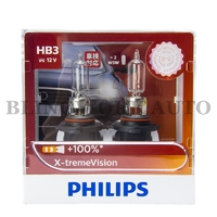 Philips HB3/9005 X-treme Vision +100% Halogen Bulbs