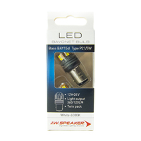 JW Speaker LED P21/5W S25 BAY15d 6000K White Bulb