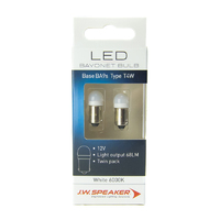 JW Speaker LED T4W BA9S 6000K White Bulb