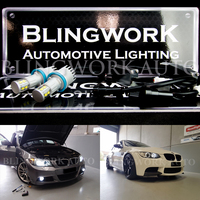BMW H8 CREE LED Angel Eyes 6000K White Light Bulbs
