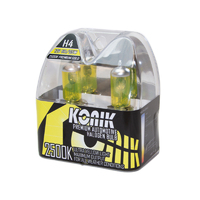 KONIK H4 Premium Gold 2500K Yellow Halogen Bulbs