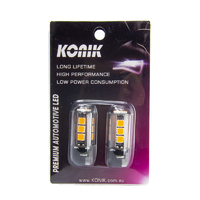 KONIK WY21W T20 7440 AMBER LED Indicator Turn Signal Light Bulbs