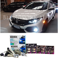 2016+ Honda FK FC Civic LED H11 H11 Low Beam Fog Reverse Indicator Interior Light Upgrade Kit