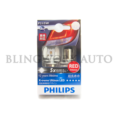 Philips RED P21/5W BAY15d X-treme Ultinon LED Bulb