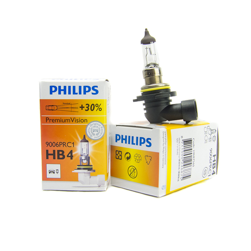 (PAIR) Philips HB4 / 9006 +30% Premium Vision OEM Replacement Light Bulb