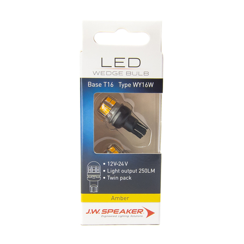 JW Speaker LED T15 T16 WY16W Amber Indicator Bulb