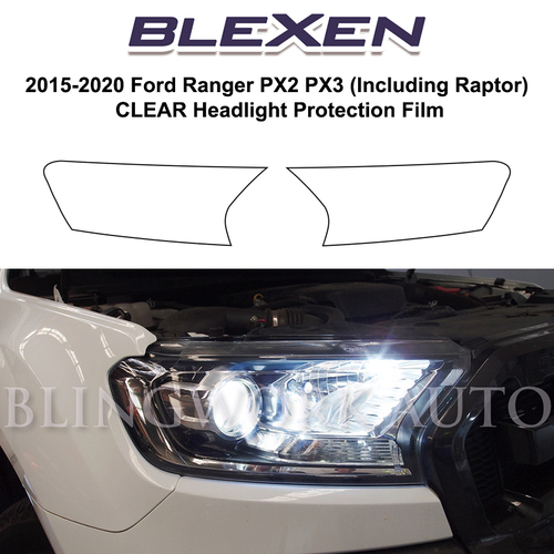 Ford Ranger PX2 PX3 Pre-Cut Headlight Protection Film