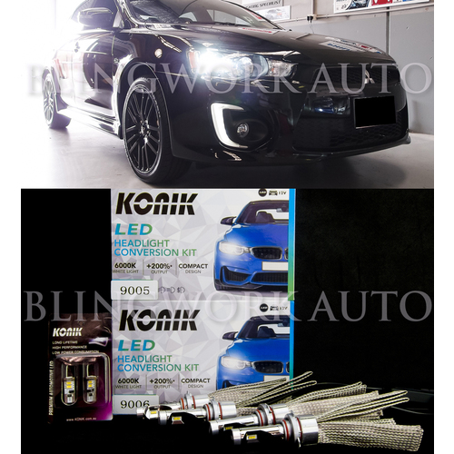 Mitsubishi CJ CF Lancer LED HB3 HB4 Headlight Low High Beam Conversion Kit