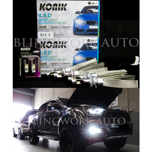 Ford Ranger PX2 (Projector Headlight) LED H11 HB3 Low High Beam Parker Conversion Kit